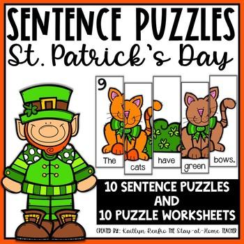 Sentence Building Puzzles St. Patrick's Day