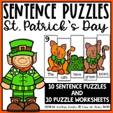 St. Patrick's Day Sentence Building Puzzles and Worksheets