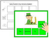 St. Patrick's Day Sentence Scramble Mats & Tiles - Differentiated Center