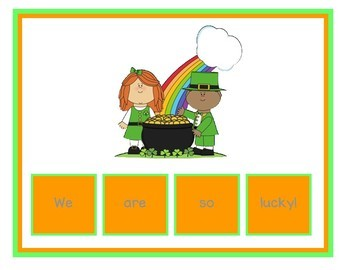 St. Patrick's Day Sentence Scramble Mats & Tiles - Differentiated Center