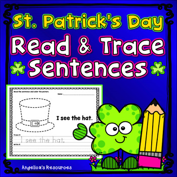 St. Patrick's Day Activities : Sentence Tracing - Sight Words - Just print & go!