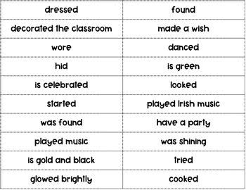 St. Patrick's Day Sentences