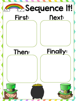 St. Patrick's Day Sequencing Recipe Activity Freebie