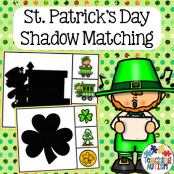 St Patrick's Day Shadow Matching Task Cards