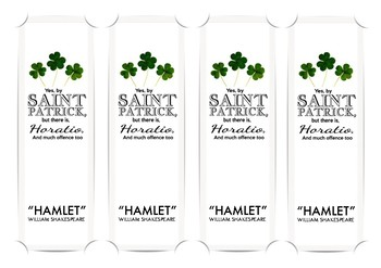 St Patrick's Day Shakespeare Bookmark