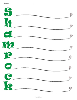 St. Patrick's Day Shamrock Acrostic Poetry Frame