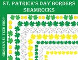 St. Patrick's Day * Shamrock Borders * Frames * Irish * Green * 4-leaf Clovers