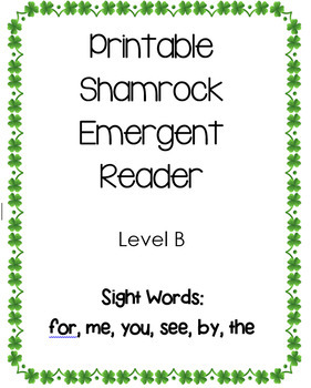 St. Patrick's Day/Shamrock Emergent Reader Book Guided Reading