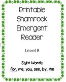 St. Patrick's Day/Shamrock Emergent Reader - Level B Print