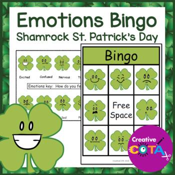 St. Patrick's Day Shamrock Emotions Bingo