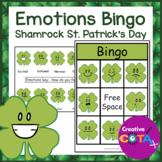 St. Patrick's Day Activity Shamrock Emotions Bingo