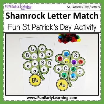 St. Patrick's Day Shamrock Letter Match