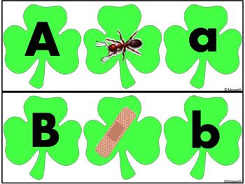 St. Patrick's Day Shamrock Letter Sound Match