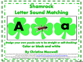 St. Patrick's Day Shamrock Letter Sound Match