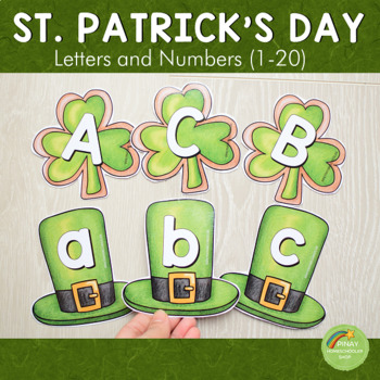 St. Patrick's Day Letter and Number Cards