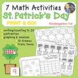 St. Patrick's Day Math Center Math Activities, Shamrock