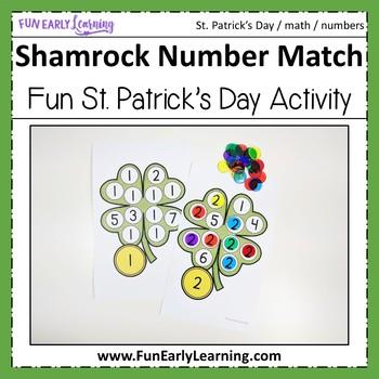 St. Patrick's Day Shamrock Number Match