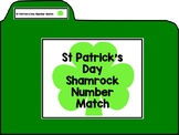 St Patrick's Day Shamrock Number Match File Folder
