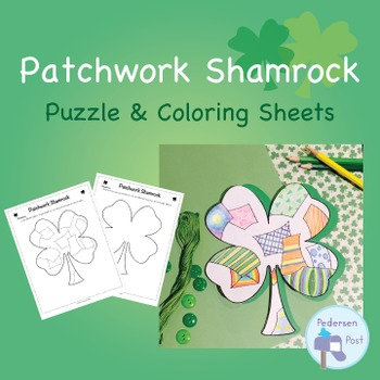 St. Patrick's Day Shamrock Patchwork Puzzle