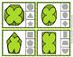 St Patrick's Day Shamrock Shapes Clip Cards
