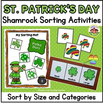 St. Patrick's Day Shamrock Sorting Activity