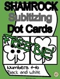 St. Patrick's Day Shamrock Subitizing Dot Cards 1-10 Black & White