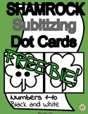 St. Patrick's Day Shamrock Subitizing Dot Cards 1-10 Black