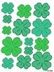 St. Patrick's Day Shamrock Templates / Decorations PDF
