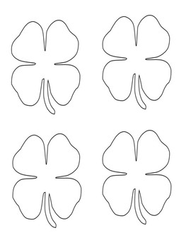 St. Patrick\'s Day Shamrock Templates for Writing/Art by Creative Calvert