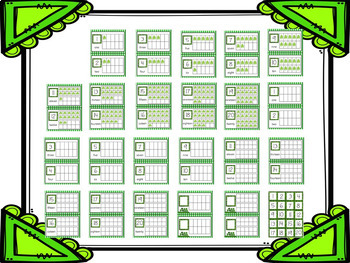 St. Patrick's Day Shamrock Ten Frames 1 - 20 - Half Page Complete / Blank Sets