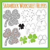 St Patrick's Day Shamrock Worksheet Helper Clip Art Set Commercial Use