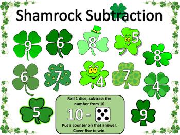 St. Patrick's Day / Shamrock addition & subtraction Bundle Pack