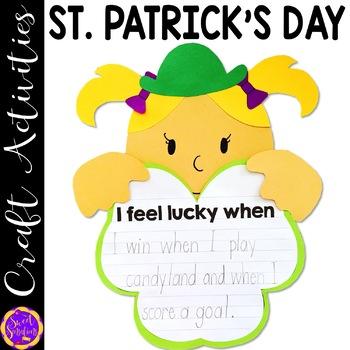 St. Patrick's Day Shamrock craft and writing activity