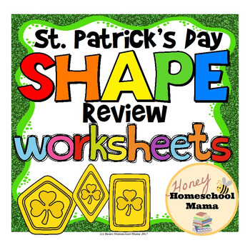 St. Patrick's Day Shape Review with Lucky Gold Coin Shapes