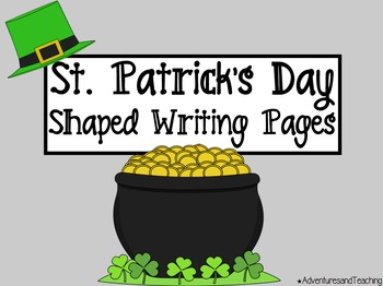 St. Patrick's Day Shaped Writing Pages