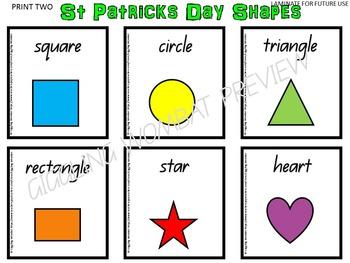 St Patrick's Day Shapes
