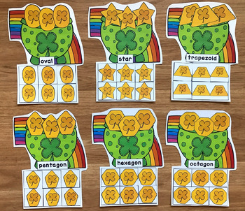 St. Patrick's Day Shapes Sorting Mats