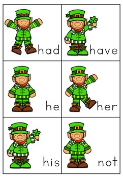 St Patrick's Day Sight Word