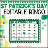 St Patrick's Day Sight Word Bingo