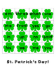 St. Patrick's Day Sight Word Bingo 4 in a row