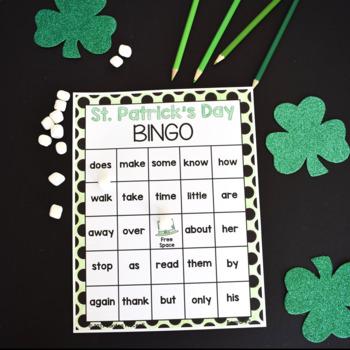St. Patrick's Day Sight Word Bingo Game