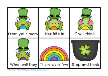 St. Patrick's Day Sight Word Fluency Phrases Race