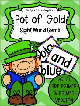 St. Patrick's Day Sight Word Game (Dolch Pre-Primer and Primer)