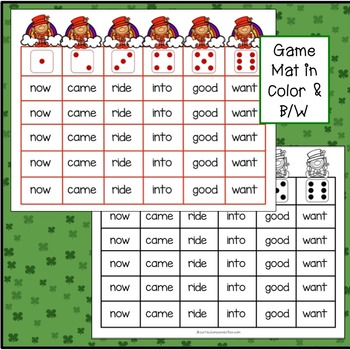 St. Patrick's Day Sight Word Game FREEBIE – Leprechaun Roll & Cover