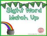 St. Patrick's Day Sight Word Match Up