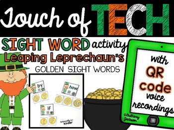St. Patrick's Day Sight Word Practice with Audio QR Codes for Self-Correcting