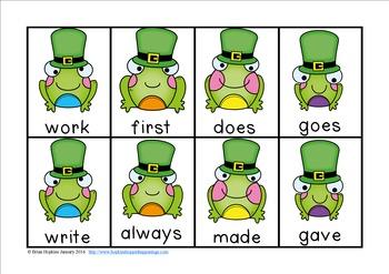 St. Patrick's Day Sight Word Race