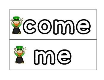 St. Patrick's Day Sight Word Skittles