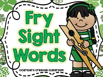 St. Patrick's Day Sight Words (104 Fry Sight Words) - Clip Cards
