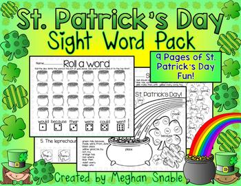 St. Patrick's Day Sight Words